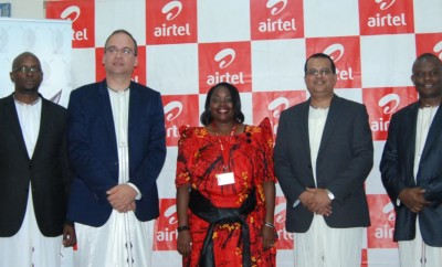 Airtel Uganda team that met the Katikiro of Buganda to sign a partnership agreement to be the platinum sponsor of Buganda's events for 3 years.