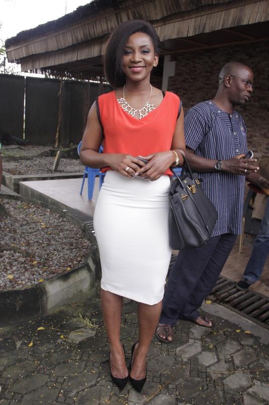 75291fe9be0c genevieve birkin. Nigerian actress Genevieve Nnaji carrying the famous  handbag