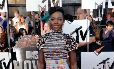 LOS ANGELES, CA - APRIL 13:  Actress Lupita Nyong'o attends the 2014 MTV Movie Awards at Nokia Theatre L.A. Live on April 13, 2014 in Los Angeles, California.  (Photo by Michael Buckner/Getty Images)
