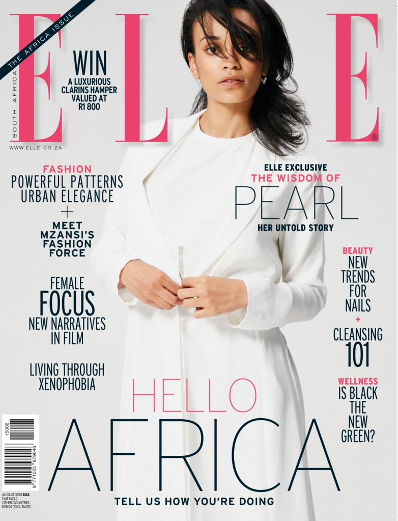 a4826b013fbc Isidingo s Pearl Thusi covers Elle South Africa s first ever  Africa ...