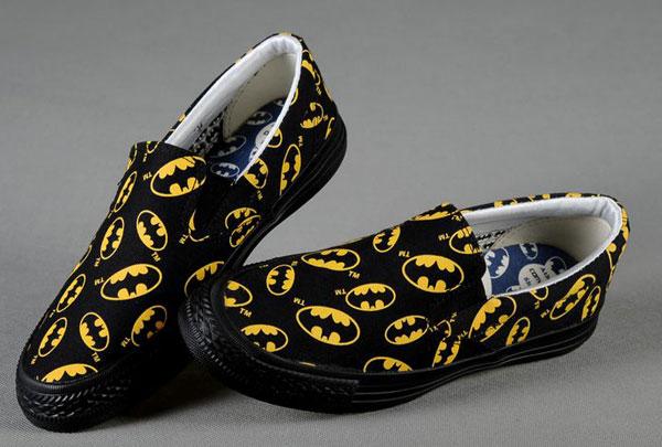 Slip ons Dc-Comics-Slip-On-Batman-Logo-Print-Low-Tops-Black-Shoes-Men-s-Converse-All-Star-Outlet-323